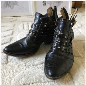 ISO Matisse Studded Leather Ankle Boots